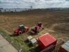 Planierarbeiten - Die Bauarbeiten haben begonnen